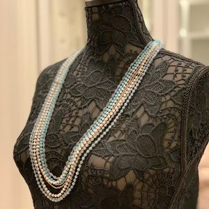 Nakamol Multi-Strand Crystal Bead Layered Necklace